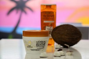 L'Oréal Elvive Extraordinary Oil hairmask, shampoo and conditioner with fine coconutoil