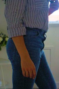 OOTD: Levi's Mile High Super Skinny Jeans