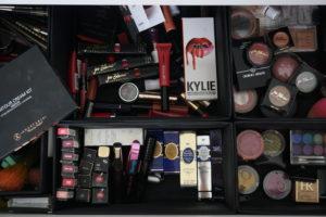 Make-Up Stash Kim Kardashian West vs Reena Jagram