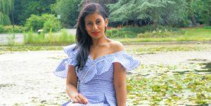Lookbook: Self-Portrait Striped Flared Dress
