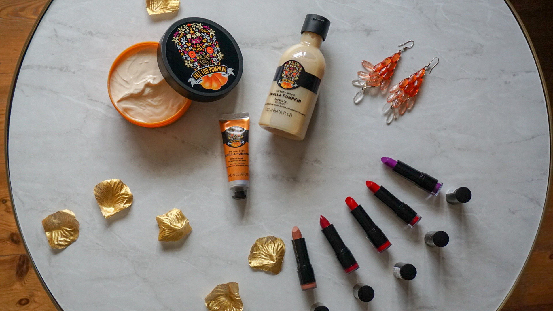 VANILLA PUMPKIN & COLOUR CRUSH FROM THE BODY SHOP