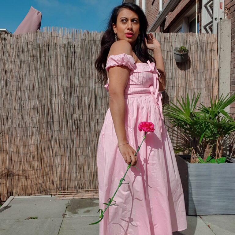 Pink dress shein