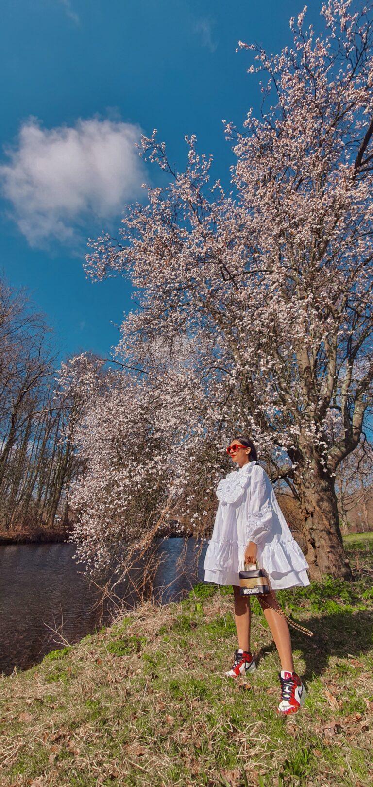 witte jurk shein